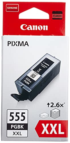 Canon PGI-555 PGBK XXL Druckertinte - Pigment Schwarz hohe Reichweite 37 ml für PIXMA Tintenstrahldrucker ORIGINAL
