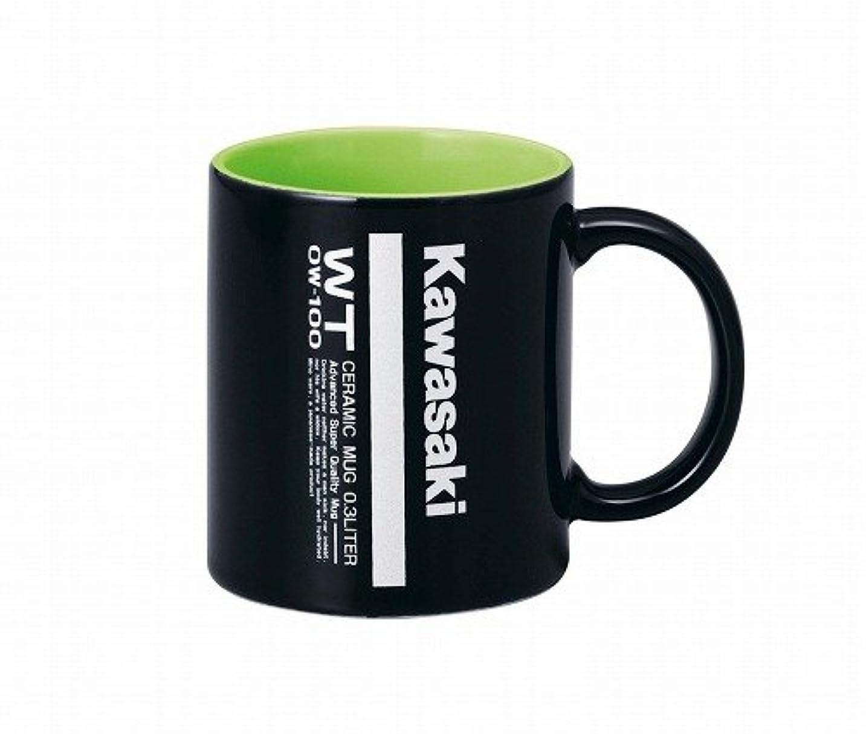 相関するスリーブ秘書KAWASAKI (カワサキ) 純正部品(OEM) マグカップ BLK/GRN (300ML) J7012-0029A