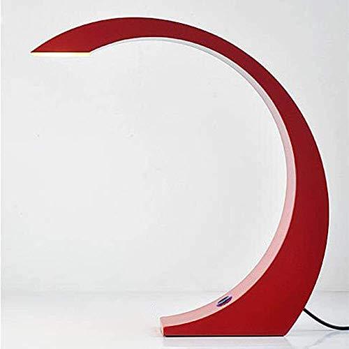 Liangsujiantd Flexo Led Escritorio, LED táctil Dimmer Mesita de luz de la lámpara, estilo minimalista arte moderno, lámpara de mesa de hierro, forma de media luna de diseño, bajo consumo de energía, d