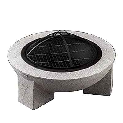 Fire Pit Outdoor Wood Burning fire Pit, Garden Terrace Heating fire Pit, Courtyard Barbecue Cooking Fireplace by Lijack