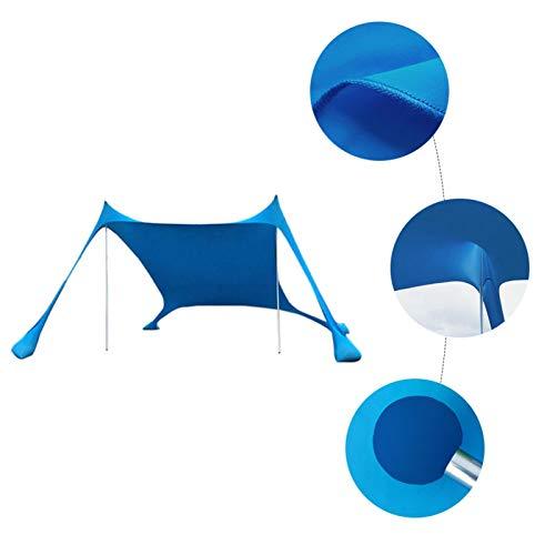 NEREN Tenda da Spiaggia, Protezione UV per 2-3 Persone Ventilazione Parasole Impermeabile per Parchi...