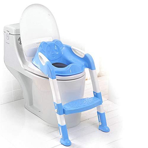 MASODHDFX 2 Kleuren Baby Potty Training Stoel Kinderen Potty Baby Toiletbril Met Verstelbare Ladder Babytoilet Training Vouwstoel