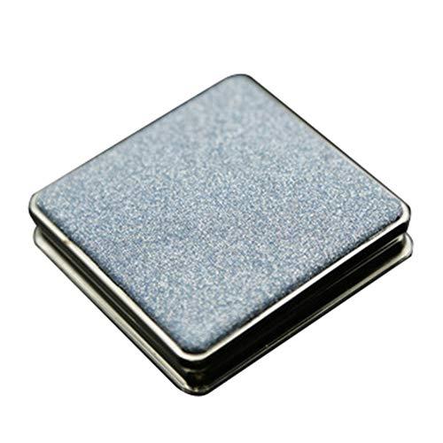 YUnnuopromi Mini miroir de maquillage carré à double face pour maquillage Bleu ciel