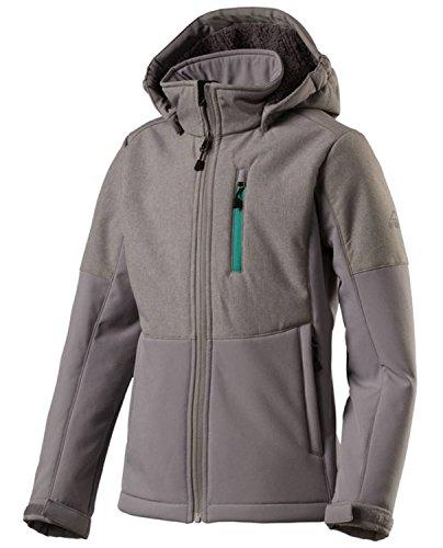 McKinley Mädchen Freizeit Wander Softshell Jacke LULU abnehmbare Kapuze grau, Größe:176