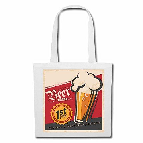 Tasche Umhängetasche Bier WEIZENBIER PILZ Party Malle JUNGGESELLENABSCHIED Bier Wodka Schnaps Wein Alkohol Rotwein WEIßWEIN LIKÖR Einkaufstasche Schulbeutel Turnbeutel in Weiß
