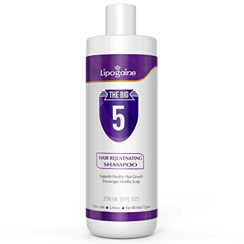 Lipogaine Hair Stimulating Shampoo for Hair Thinning & Breakage, for All Hair Types, Men and Women,...