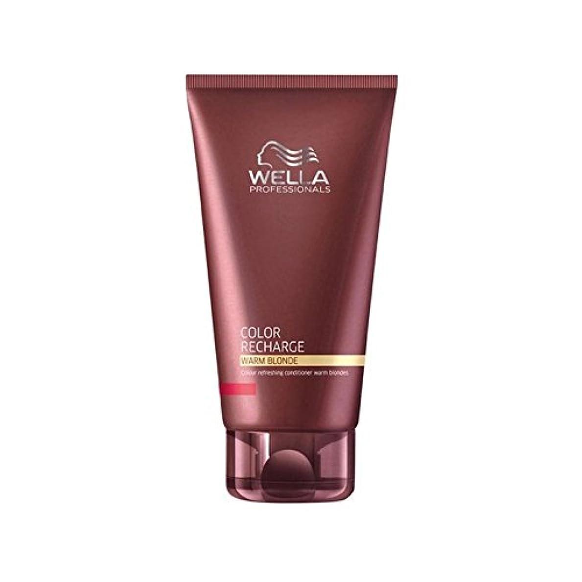 電気的アンカー充電ウエラ専門家のカラー再充電コンディショナー暖かいブロンド(200ミリリットル) x4 - Wella Professionals Color Recharge Conditioner Warm Blonde (200ml) (Pack of 4) [並行輸入品]