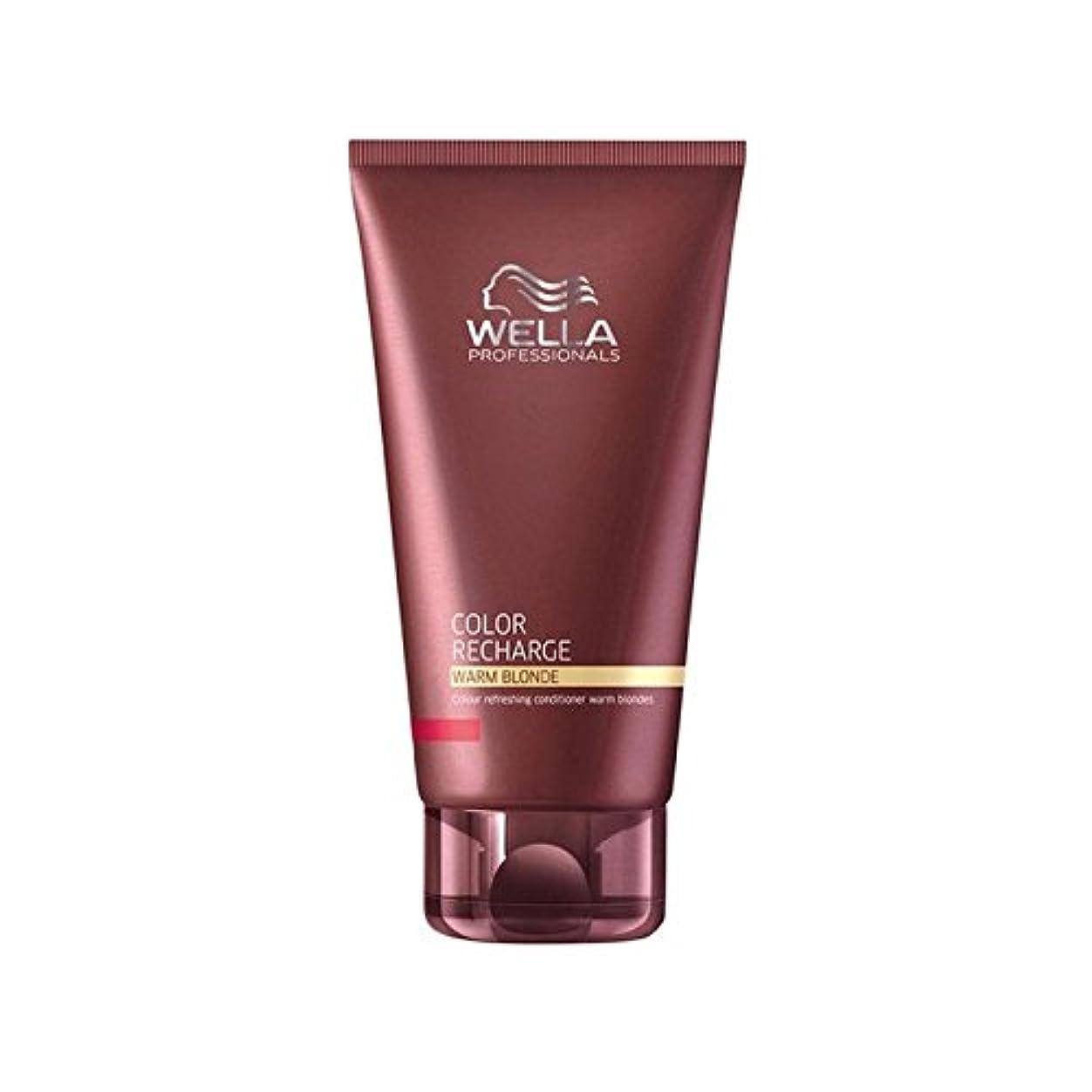 きちんとしたいいねレーダーウエラ専門家のカラー再充電コンディショナー暖かいブロンド(200ミリリットル) x2 - Wella Professionals Color Recharge Conditioner Warm Blonde (200ml) (Pack of 2) [並行輸入品]