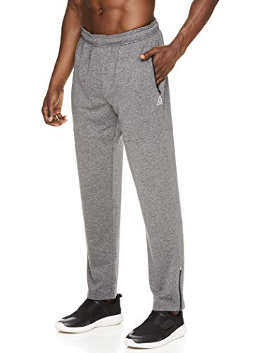 Reebok Men's Track & Running Pants with Pockets - Athletic Gym Pants for Men