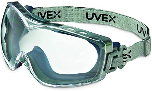 UVEX by Honeywell Stealth OTG Safety Goggles with Clear Dura-Streme Anti-Fog/Anti-Scratch Lens & Fabric Headband (S3970DF)