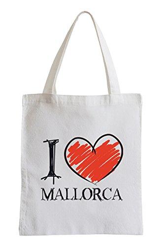 I Love Mallorca Fun Sac de Jute