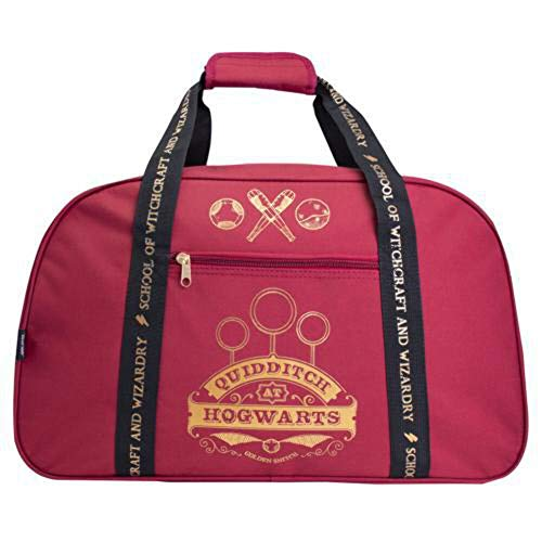 Harry Potter Gryffindor Quidditch at Hogwarts Burgundy Duffle Bag