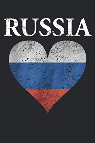 Russia - Russland Russische Flagge Fahne Geschenk Notizbuch (Taschenbuch DIN A 5 Format Liniert): Russland Liebe Notizbuch, Notizheft, Schreibheft, ... russischer Abstammung und Russland Liebhaber.
