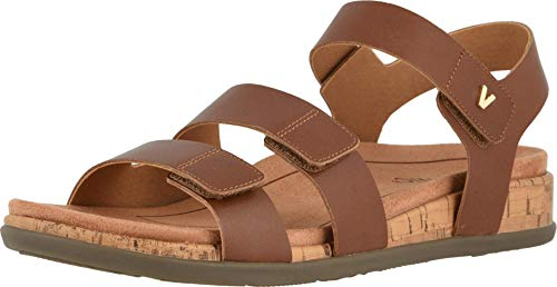 Vionic Women's Colleen Adjustable Backstrap Sandal – Ladies Sandals with Concealed Orthotic Arch Support Cinnamon