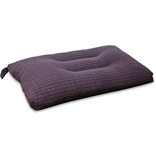Vitabo Kopfkissen für Bett und Sofa | Weiches Schlafkissen und Dekokissen mit ergonomischer Form | Reisekissen mit Baumwollbezug | 65x40 cm (Violett)