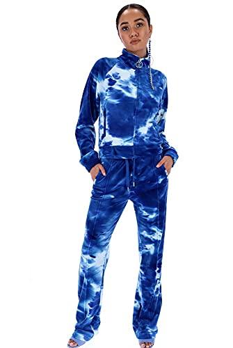 JUICY Couture Printed Tina Track Pants AOP Blue Sea JUCJCWB121017-168XS