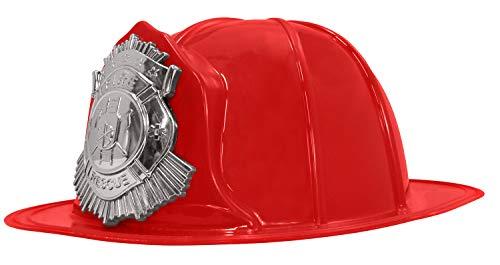 Adult Fireman Costume -Hard Helmets - Fireman Helmet - Firefighter Hats - Fireman Accessories, Red, One Size