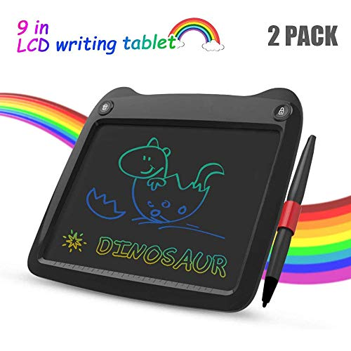 All-Purpose LCD Writing Tablet Colorful Screen, 9' Electronic Drawing Doodle Board, LCD Digital Handwriting Pad Gifts for Kids Children at Home And School 2 Pack