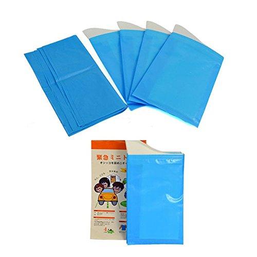 Artigos domésticos diários 4 unidades de saco de urina para toalete portátil de emergência para viagem ao ar livre e ecologicamente correto para solidificação de urina para crianças e adultos unissex