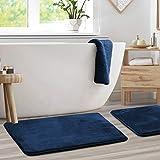 Clara Clark Memory Foam Bath Mat Set of 2 - Non Slip, Absorbent, Soft Bath Rug Set - Fast Drying...