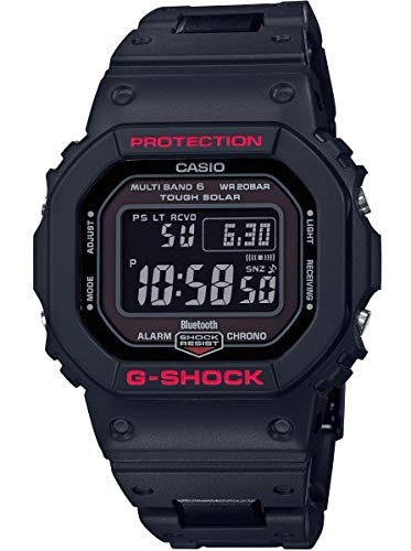 Casio Herren Digital Quarz Uhr mit Resin Armband GW-B5600HR-1ER