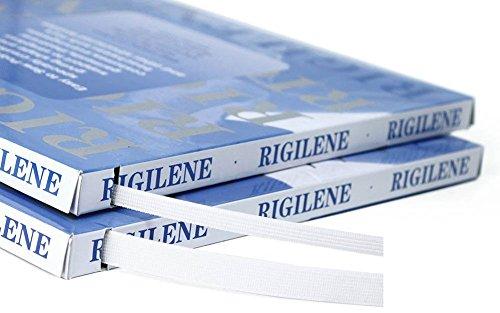 Eloja® Corsage Verstärkung Rigilene Boning Breite 15 mm Weiß Polyester 46 Meter leicht einnähbar für trägerlose Kleider, Abendkleider, Taschen, Hüte