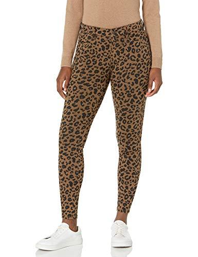 Amazon Essentials Damen Standard Skinny Stretch Knit Jegging leggings-pants, Camel Animal Print, 44 EU (Herstellergröße: 12)