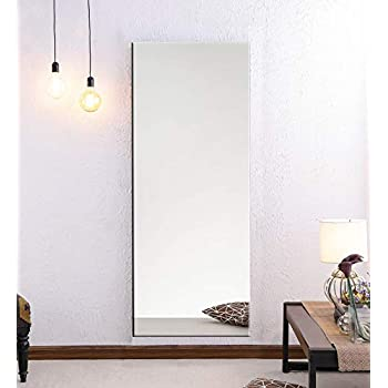 Elegant Arts & Frames Glass Wall Mounted Water Resistant Mirror (60 x 20 x 5 inch, Silver)