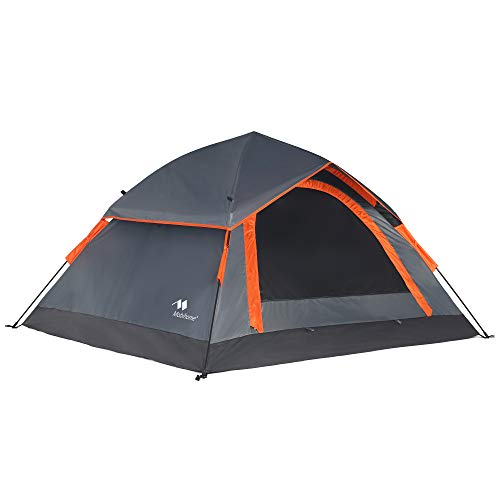 Mobihome 3 Person Tents for Camping, Instant Backpacking Quick Tent Easy Set Up, Portable 2 Person Dome Tent for Hiking & Mountain Outdoor, with Rainfly and Ventilated Top Mesh - 7' x 6.3'
