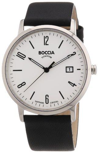Boccia Herren-Armbanduhr XL Analog Leder 3557-01