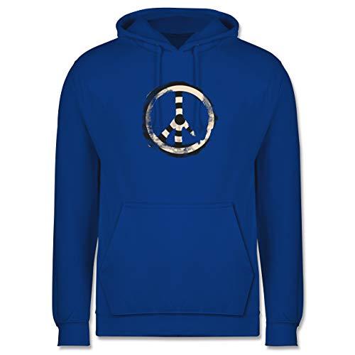 Shirtracer Statement - Zielscheibe Frieden - Target Peace - 3XL - Royalblau - Friede - JH001 - Herren Hoodie und Kapuzenpullover für Männer