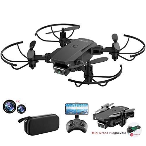 allcaca RC Mini Drone con Telecamera 4K HD Doppia, RC Quadcopter Drone Pieghevole WiFi FPV Drone, Un Pulsante di Decollo   Atterraggio, Modalità Senza Testa 3D Flip, per Bambini e Principianti Regalo