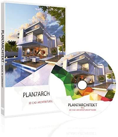 Plan7Architekt Pro 2020 - Profi 2D/3D CAD Hausplaner Software & Architektur Programm zur Erstellung von Grundrissen, inkl. Gartenplaner Raumplaner 3D Visualisierung