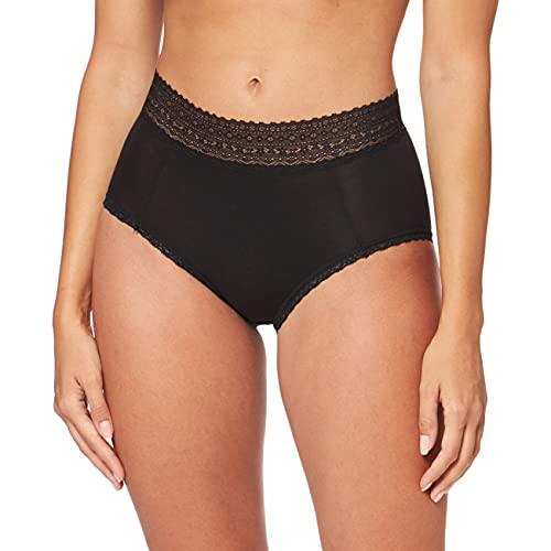 Marque Amazon - Iris & Lilly Culotte Taille Haute en Coton Femme, Lot de 3, Noir (Black), L, Label: L