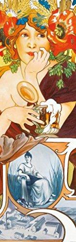 1art1 Alphonse Mucha - Biere Von Der Maas, 1897, 1-Teilig Selbstklebende Fototapete Poster-Tapete 240 x 75 cm