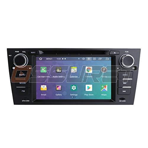 Android 10 Autoradio Einzel Din GPS Navigation Unterstützt Bluetooth Mirror-Link WiFi 4G TPMS DVR Passend für BMW 3er E90/E91/E92/E93 (2006-2012)