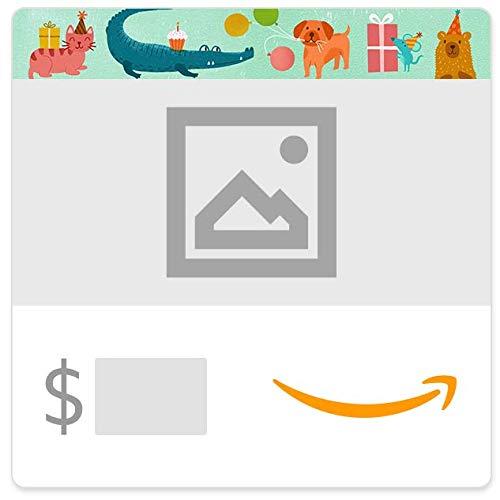 Amazon eGift Card - Upload Your Photo - Birthday Party Animals