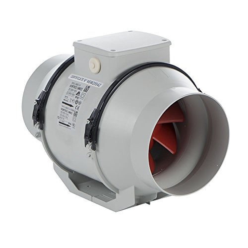Vortice 17021 Lineo 100 T V0 Mixed Flow In-line Ducted Extractor Fan with Timer by Vortice