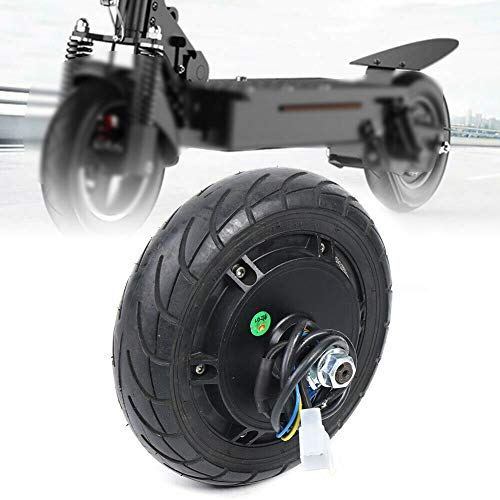 TFCFL Motor de buje eléctrico de 8 pulgadas CC 24 V, 36 V, 48 V, freno de tambor sin escobillas, peso de carga de aprox. 80 – 150 kg, para patinete eléctrico, monopatín, bicicletas plegables