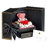 TRIPLE K Geschenkbox mit Rosen - Infinity Rosen - Geburtstag, Valentinstag, Hochzeitstag - 3 Jahre haltbar - mit Rosenduft - inklusive Grußkarte