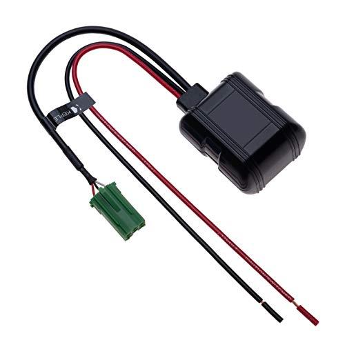 6-Pin auto Bluetooth modulo senza fili adattatore stereo ausiliario ricevitore Aux Audio cavo compatibile con Renault Clio Escape Kangoo Laguna Megane Scenic Trafic Twingo Modus Master | 12V