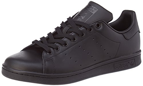 adidas Originals Stan Smith, Zapatillas de Deporte Unisex Adulto, Negro (Black/Black/Black), 45 1/3 EU ⭐