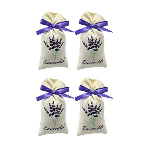 Yardwe Lavendel Beutel mit Kordelzug Leer Duft Lavendelsäckchen Stoff Süßigkeitstaschen Kordelzugbeutel Sack Motten Duftsäckchen Gewürzbeutel für Kleiderschrank 6 Stück