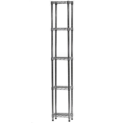 Topeakmart Adjustable 5-Shelf Garage Shelves Metal Storage Rack Shelving Unit Display Rack 71in Height, 2 Packs