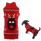 PJDDP Hund Pullover Weihnachten Karikatur-Ren-Haustier-Katzen-Winter-Strick Warme Kleidung
