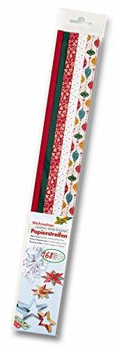 """folia 129504 - Papierstreifen \""""Weihnachten\"""", 168 Streifen zum Flechten, Falten und Quillen"""