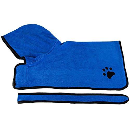 ZHDIN Mascota Perro Gato Albornoz Suave Absorbiendo Rápidamente Agua Fibra Mascota Secado Toalla Albornoz Con Sombrero Gato Pet Grooming Suministros