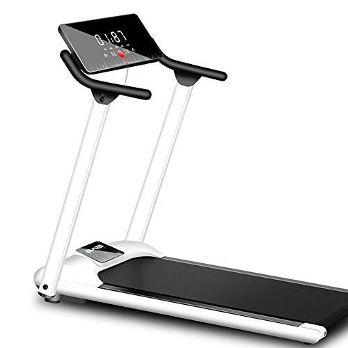 YZT QUEEN Tapis roulant Pieghevole per Interni Fitness Fitness Silenzioso Tapis roulant Schermo LCD inclinazione Fissa 1-10Km / H, Design con Blocco Magnetico di Sicurezza