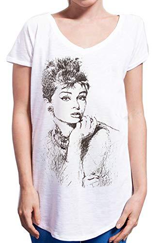 Audrey Hepburn 18-29 Urban Slub Lady Donna Cotone 100% MOD.TSULSLB (S/M - Cm.48 - Cm.68)