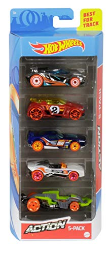 Hot Wheels - Pack de 5 vehículos (modelos variados) (Mattel 1806) , color/modelo surtido